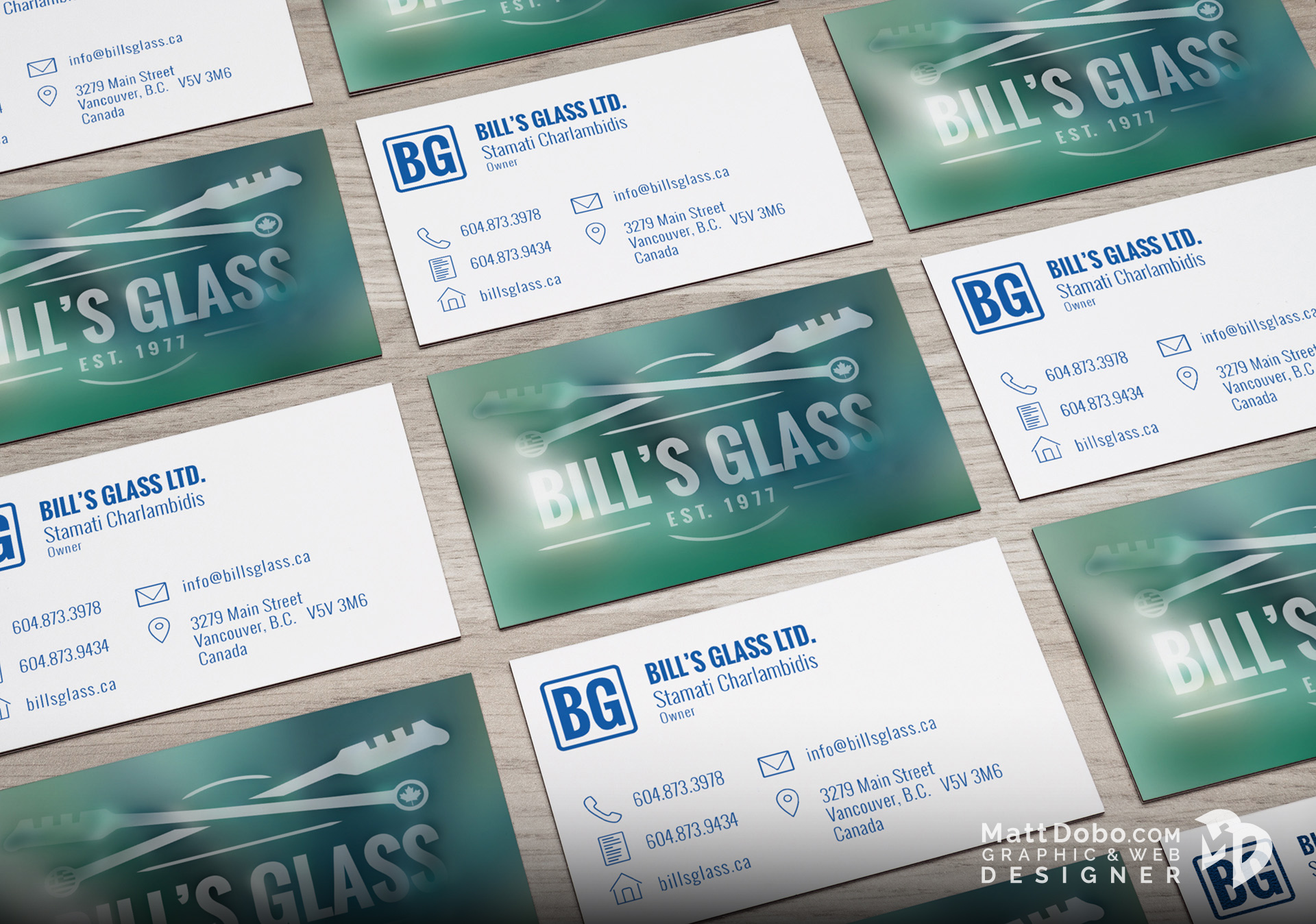 Bill's Glass Business Card Concept