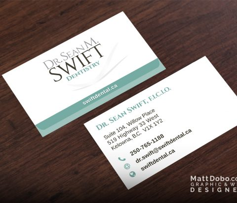 Dr. Sean M. Swift Dentistry Business Card