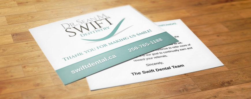 Swift Referral Thank You Postcard