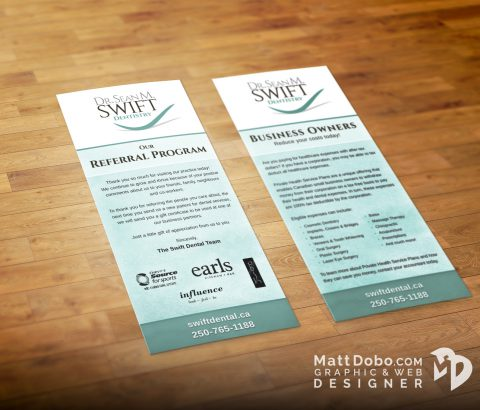 Swift Referral Rack Card